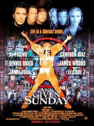 Any Given Sunday - Theatrical release poster
