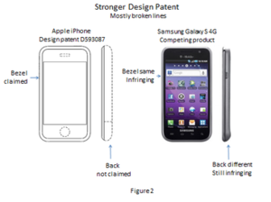 Apple Inc. v. Samsung Electronics Co. - Image: Apple v Samsung design patent