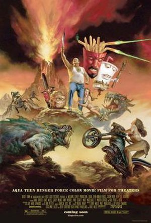 Aqua Teen Hunger Force Colon Movie Film for Theaters - Theatrical release poster by Julie Bell and Boris Vallejo