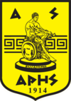 The crest of AS Aris, the sports club