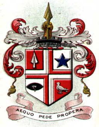 Leigh, Greater Manchester - The coat of arms of the former Leigh Municipal Borough Council