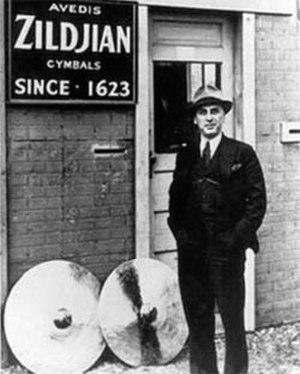Avedis Zildjian Company - Avedis Zildjian III in front of Zildjian Quincy Factory