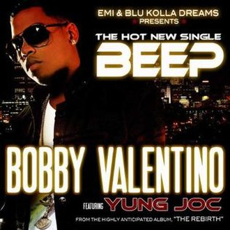 Beep (Bobby Valentino song) - Image: Bobby Valentino Featuring Young Jock Beep Beep The Official Single Music Cover (2008)