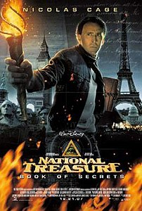 Film poster for National Treasure: Book of Secrets - Copyright 2007, Walt Disney Pictures