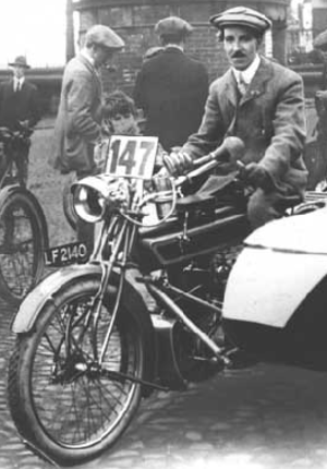 Charlie Collier - Image: Charlie Collier sidecar ISDT 1913