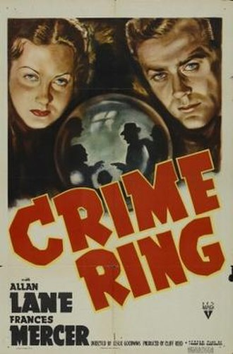 Crime Ring (film) - Theatrical poster for film