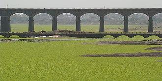 Daund - A bridge over the Bhima river near Daund