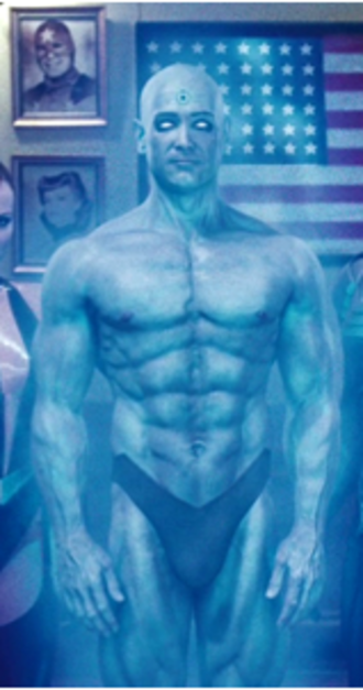 Doctor Manhattan - Doctor Manhattan (portrayed by Billy Crudup/Greg Plitt) in the 2009 film adaptation.