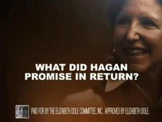 """United States Senate election in North Carolina, 2008 - Dole's attack ad, """"Godless""""."""