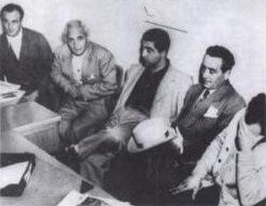 "Los Angeles crime family - From left to right: Louis Dragna, Tom Dragna, Frank Dragna, Girolamo ""Momo"" Adamo and Frank Paul Dragna"