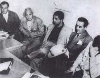 "Los Angeles crime family - From left to right: Louis Dragna, Tom Dragna, Frank Dragna, Girolamo ""Momo"" Adamo and Frank Paul Dragna"