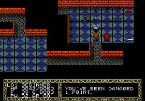 Sega Meganet - A screenshot from Meganet title Fatal Labyrinth