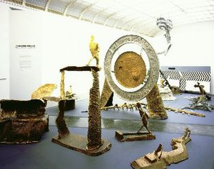 Frederick John Kiesler - Installation view of Frederick Kiesler's Us, You, Me at the Parrish Art Museum in 2003.