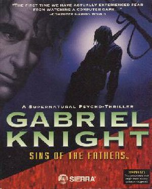 Gabriel Knight: Sins of the Fathers - Image: Gabriel Knight Sins of the Fathers cover art