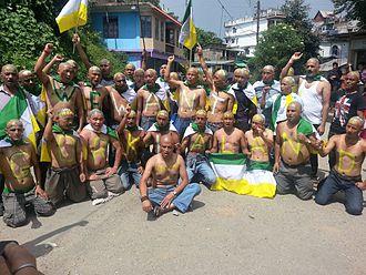 Gorkhaland - Gorkhaland supporters demonstrating in Mirik, Darjeeling.