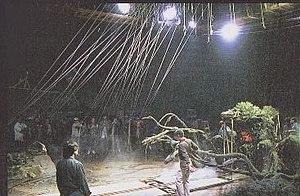 Godzilla vs. Biollante - Image: Gv B behind scenes