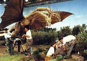 Godzilla vs. King Ghidorah - Preparations for the first fight scene