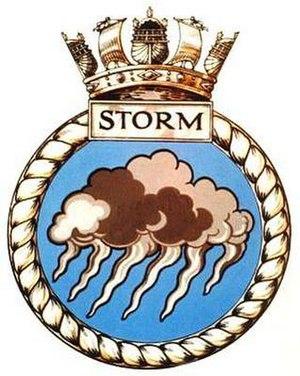 HMS Storm (P233) - Image: HMS Storm badge