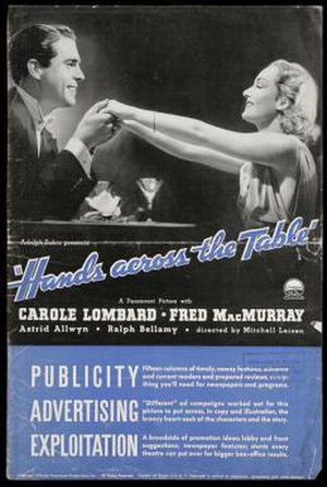 Hands Across the Table - Trade advertisement