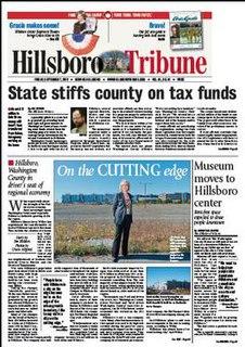 <i>Hillsboro Tribune</i> newspaper in Hillsboro, Oregon