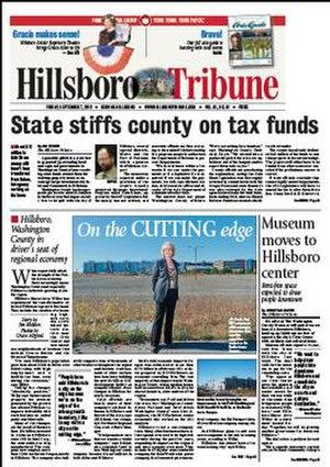 Hillsboro Tribune - Image: Hillsboro Tribune 9 7 2012 cover