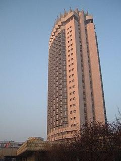 skyscraper in Almaty, Kazakhstan