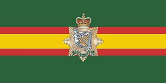 Irish military diaspora - The camp flag of the Irish Regiment of Canada.