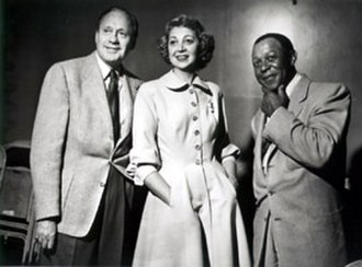 Jack Benny - Jack Benny, Mary Livingstone, and Eddie Anderson (Rochester) in a group portrait