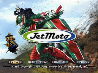 Jet Moto (video game) - Jet Moto features a comic style user interface created by Axiom Design.