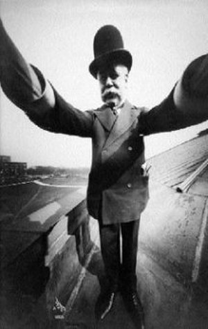 Joseph Byron - Byron in a self portrait circa 1910-1920 in a distorted in a wide angle lens
