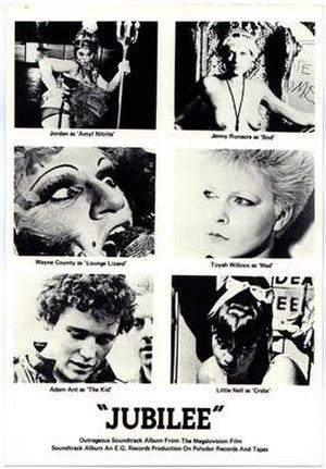 Jubilee (1978 film) - Image: Jubilee (1977 film) poster