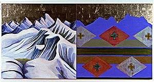 Kay WalkingStick - Image: Kay Walking Stick, Wallowa Mountains Memory, Variations, 2004