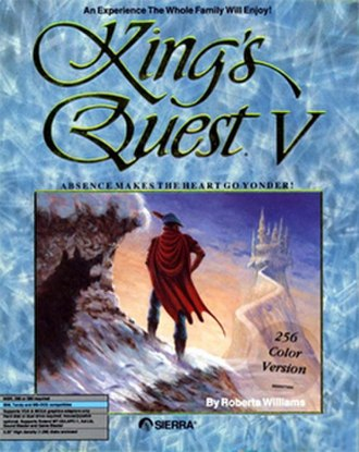 King's Quest V - DOS cover art by John Gamache