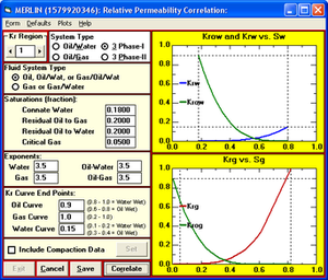 Reservoir simulation - Correlating relative permeability