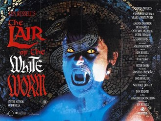 The Lair of the White Worm (film) - Theatrical release poster