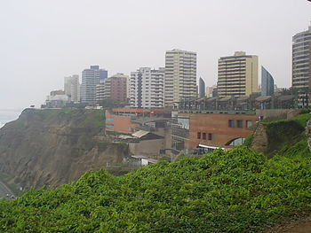 View of Larcomar in Miraflores
