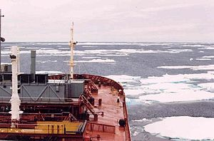 USNS Lawrence H. Gianella (T-AOT-1125) - Lawrence Gianella headed south towards McMurdo Station, Antarctica