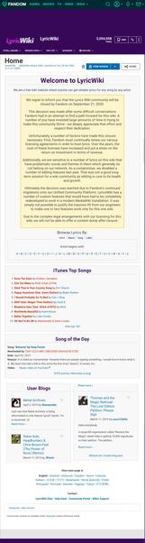 LyricWiki Wiki-based lyric database