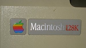 Macintosh 128K - Back case label of a Macintosh made after November 1984