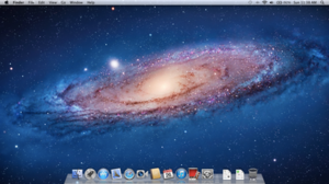 Mac OS X Lion - Image: Mac OSX Lion screen