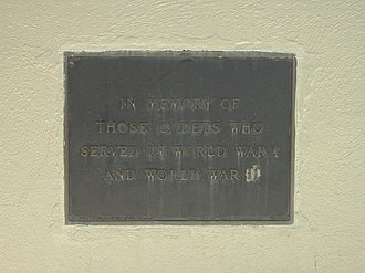 Marin Academy - A plaque dating from the days of the San Rafael Military Academy