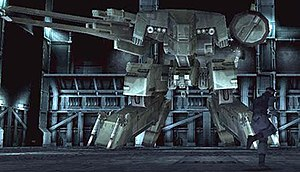 Metal Gear Solid - Snake engaging Metal Gear REX