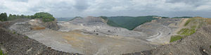 Mining for coal via mountaintop removal at Kay...