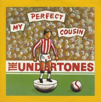 "Derry City F.C. - The single cover for ""My Perfect Cousin"" by The Undertones features a Derry City figurine"