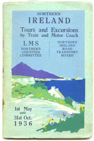 Northern Counties Committee - Joint NCC and NIRTB tours guide for the summer of 1936.