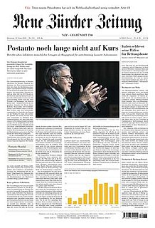<i>Neue Zürcher Zeitung</i> Swiss German-language daily newspaper