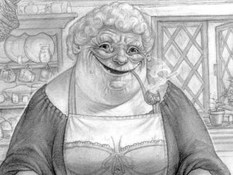 Nanny Ogg - Nanny as she appears in her cookbook