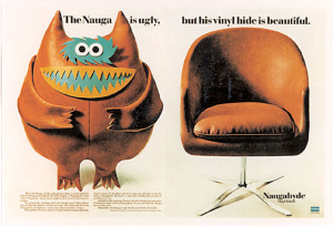 Naugahyde - Advertising campaign showing the fictional Nauga character.
