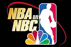 The NBA on NBC logo