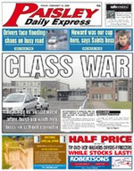 Paisley Daily Express Front Page